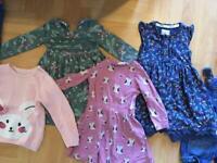 Girls clothing bundle 18 items 2-3 & 3-4 dresses leggings jumpers good quality. York