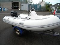 RIB PACKAGE - 3.3M WITH 20 HP TOHATSU OUTBOARD MOTOR - ALL NEW AND READY FOR THE WATER