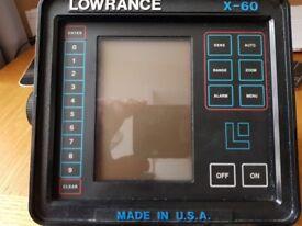Lowrance X-60 Depth Fish Finder
