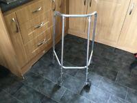 Zimmer frame, walker, height adjustable £10