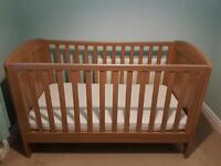 Mothercare cot and changing unit