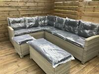 Corner sofa, Rattan Outdoor Garden Furniture Set Yakoe - Delivery Available