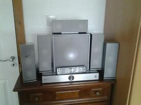 LG Home Cinema 5.1 surround sound with 3D Blu-ray player Remote included