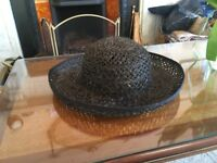 Navy Straw Hat - perfect for Easter Bonnet