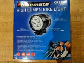 ****** Super Bright Bike Light Aldi bikemate High Lumen CREE Bike Light 1200 lumens BNIB ******