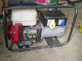 electric start honda generator 6.kva