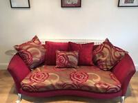 "Designer DFS ""Nikita"" 3 Seater Sofa - FREE LOCAL DELIVERY"