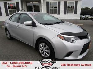 2014 Toyota Corolla LE $134.00 BIWEEKLY!!!