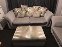 Suite (sofas x2 and footstool)