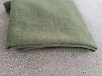 Heavy Tweed Fabric in Light green 154x167 Stunning quality 100% Pure Wool