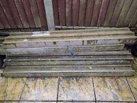 6ft Concrete fence posts