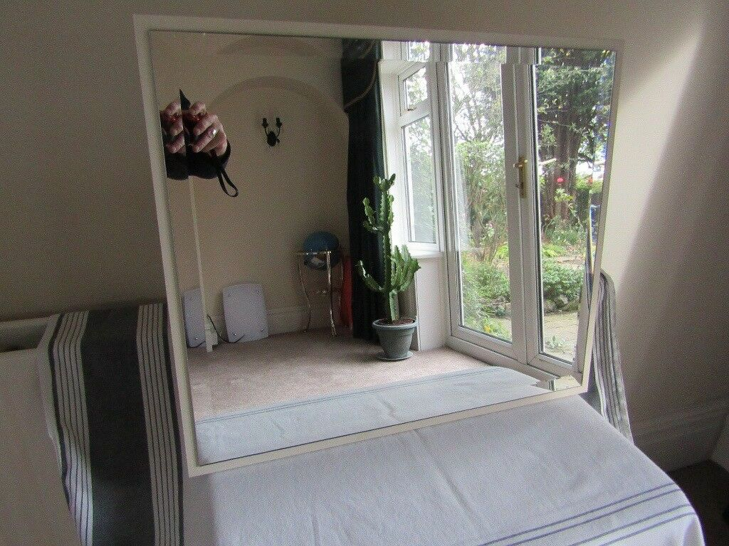 Free Standing Dressing Table Mirror - Bevel Edged