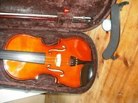 Stentor Violin and Folding Music Stand with shoulder rest