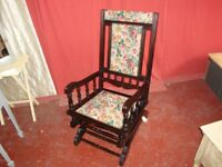 Vintage Rocking Chair In Need Of Some Refurbishment.