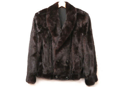 Authentic Mink Furs Coat Brown Black Men