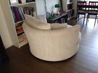 Dfs Cuddle chair, ivory like new! £259 offers welcome