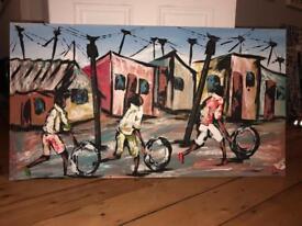 Original contemporary piece of African art