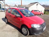 2007 VOLKSWAGEN FOX 1.2 RED 3 DOOR HATCHBACK 12 MONTHS M.O.T