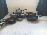 Pots & Pans set: 4 pots, 4 pans, 2 woks