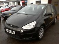 FREE DELIVERY - 2008 FORD S-MAX LX TDCI 1.8L ONE OWNER, 7 SEATER, FSH, YEAR MOT, FREE DELIVERY