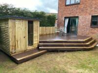 Fencing, decking, shed and more