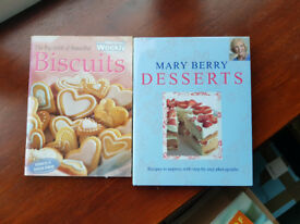 Biscuits and a Mary Berry Desserts cookbook