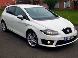 2010 Seat Leon FR Cr 2.0 Tdi 210Bhp Stage1 Eco-Map Candy White 60Mpg Cheap Facelift s line vw audi