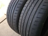 4 x Conti Sport Contact 2 Tyres 205/55/R16 91W