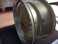"BBS RS style brand new Alloy wheels 17"" inch x 8.5j 4x100 5x100 mr2 volvo audi skoda alloys wheel"
