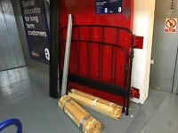 "IKEA 4'8"" (141 cms ) black coated metal bed frame"
