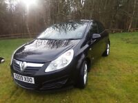 Very good condition Vauxhall corsa 3 door black