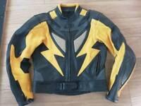 Motorbike Leather jacket trousers