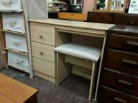Bedroom Dressing Table Desk. With Stool