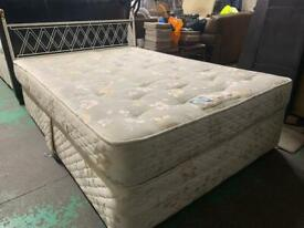 Double divan bed with matching matress plus headboard