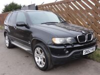 BMW X5 E53 3.0d, 2002, Auto, Black, 124k Miles, *** Spares Or Repair (Gearbox Fault) ***