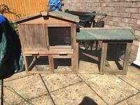 2 Teir Rabbit hutch good condition. 1400mmx500mmx850mm high.