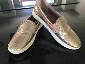 Dune Ladies Size 5/38 Rose Gold Trainer