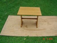 Real Beech Timber Side Table / Stool. Can Deliver.