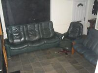 Leather Sofa 3 + 3 + 1