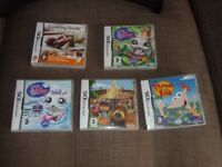 FIVE NINTENDO DS GAMES AGE 3+
