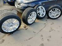 """Genuine range rover 20"""" HSE alloys with tyres"""