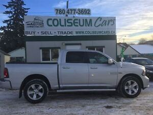 2015 Dodge Ram 1500 SPORT, 4X4, LEATHER, SUNROOF, LOADED, 19KM