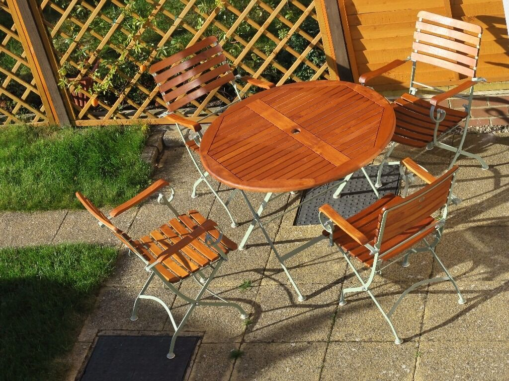 Laura Ashley Garden Furniture Laura ashley garden set table 4 chairs like new condition in laura ashley garden set table 4 chairs like new condition workwithnaturefo