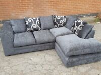 Lovely BRAND NEW grey fabric corner sofa ,good quality ,new and packed ,can deliver