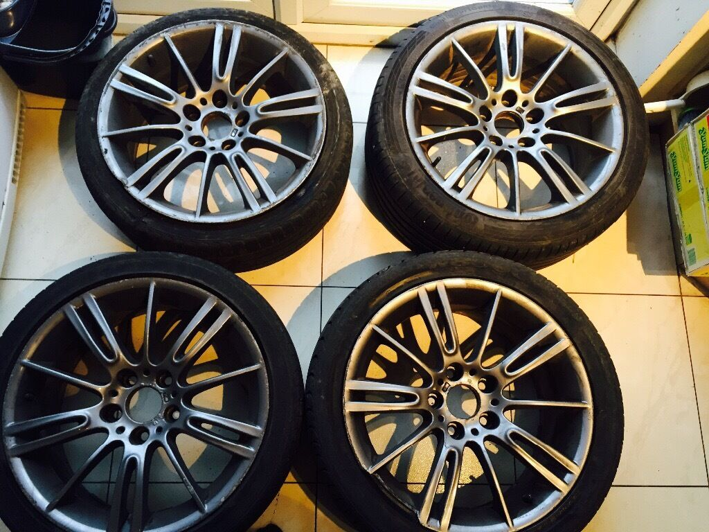 4 genuine bmw 18 mv3 193m m sport wheels 3 series e90 e92 e46 f30 f10 ferric grey in harrow. Black Bedroom Furniture Sets. Home Design Ideas