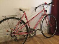 BICYCLE LOUIS OCANA SIFEM BIKE, PINK, VINTAGE, RETRO, USED, WORKING AND IN NEED OF TLC