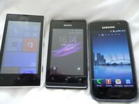 3 phones working £30 the lot may drop off