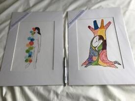 Original watercolours