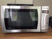 Silver Panasonic microwave