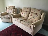 Two Seater Sofa and Matching Armchair